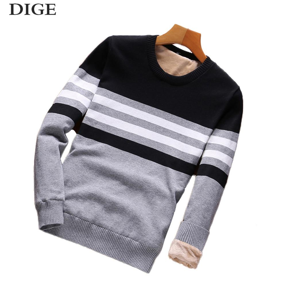 ddf24d387 Winter Sweaters Men Fashion Style Autumn Winter Patchwork Knitted Qual