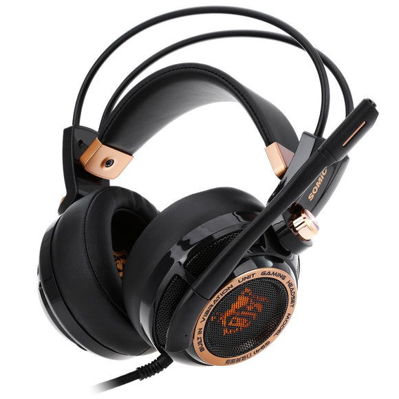Somic G941 Active Noise Cancelling 7.1 Virtual Surround Sound USB Gaming Headset with Mic Vibrating Function-Zodeys-BLACK-Zodeys