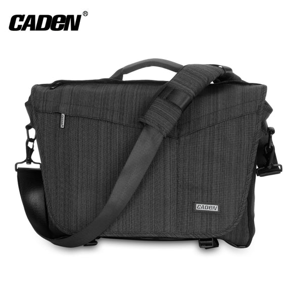 Caden K11 - S Nylon Camera Messenger Bag with Removable Insert for SLR / DSLR