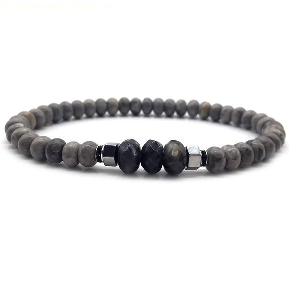 Fashion Classic Simple Stone Bead Charm Bracelets For Men Valentines Day Gifts