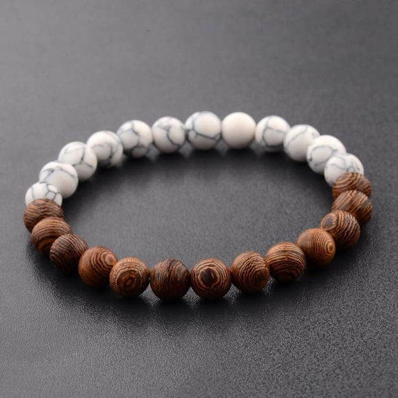 8Mm New Natural Wood Beads Bracelets Desire Shop