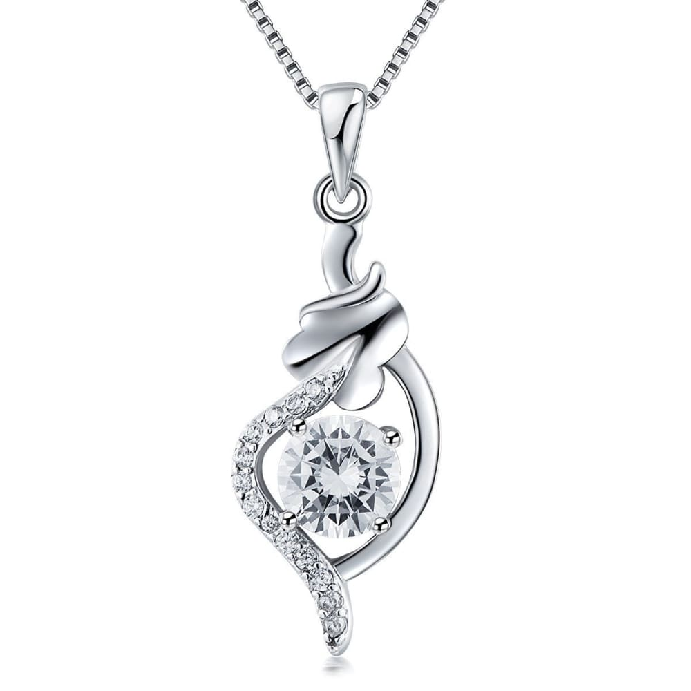 925 Sterling Silver Necklace Female Chain Clavicle Simple