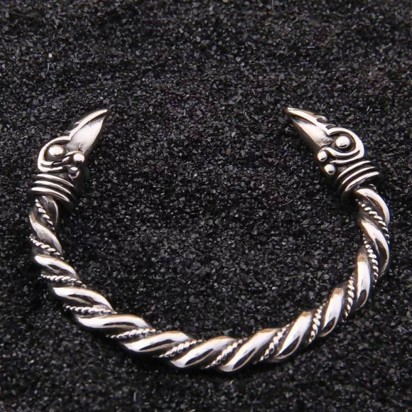 Men's Fashion Stainless Steel Raven Viking Bracelet