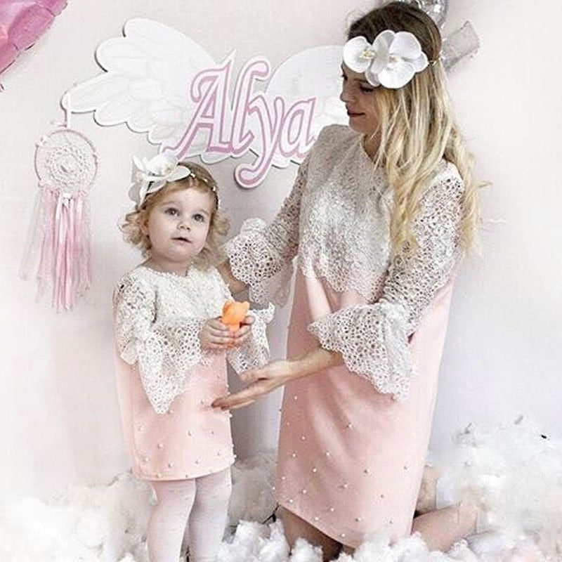 Mommy And Me Family Matching Mother Daughter Dress Birthday Party For Girls Clothes Ladies Dresses