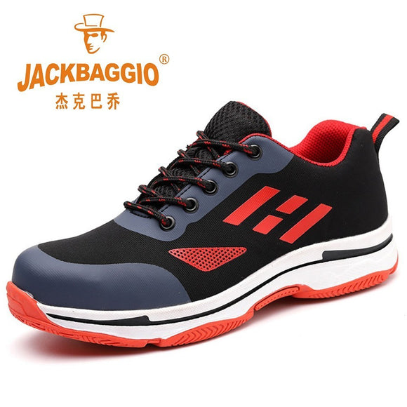 Men's safety shoes, breathable non-slip hiking men boots, anti-smashing puncture-proof rubber sole work shoes