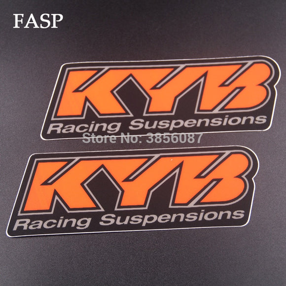 FASP 2 pieces Emblem Sticker Decal Motorcycle For KYB suspension
