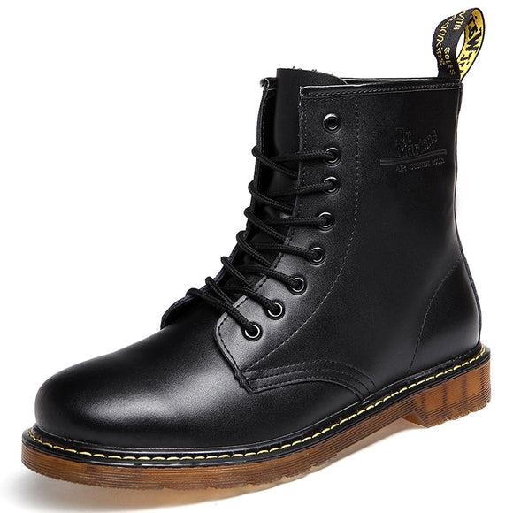 Shoes Men Boots Doc Martins Leather Winter Warm Shoes Motorcycle Mens Ankle British Martins Vintage Classic Oxfords Shoes Martin