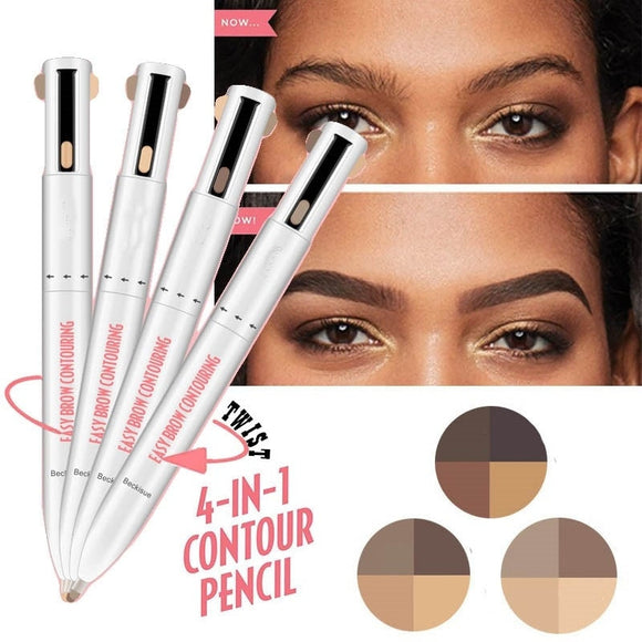 4-in-1 Easy to Wear Eyebrow Contour Pen Defining & Highlighting Brow Microblading Eyebrow Outline Tattoo Pen Eyebrow Pencil Dye-Makeup-Zodeys-1-Zodeys