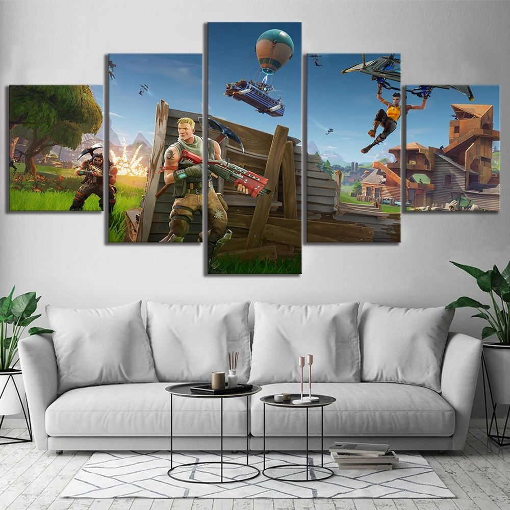 5 Piece Fortnight Battle Royale Game Poster Paintings On Canvas Fort C Zodeys