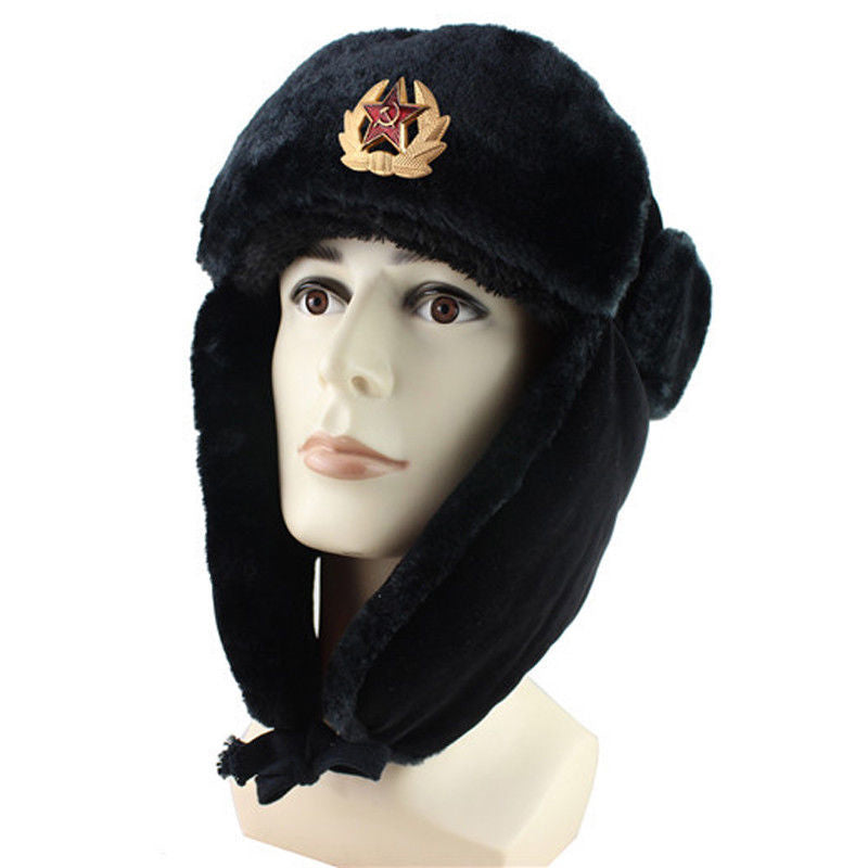 802470d05a2 2019 Men Women Bomber Hats Warm Winter Hat Soviet Russian Soldier Army Hat  Ushanka Badge Cap