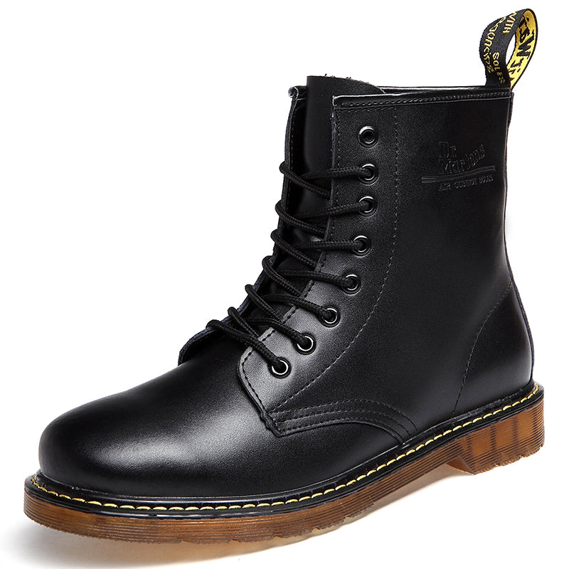 a158d3da6cf Men s Boots Dr. Martens Leather Winter Warm Shoes Motorcycle Keep Warm Mens  Ankle Boot Doc