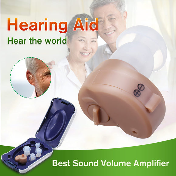 K-80 Mini Adjustable Dightal Tone In-ear Best Invisible Sound Enhancement Deaf Volume Amplifier Hearing Aid Aids Ear Assistance