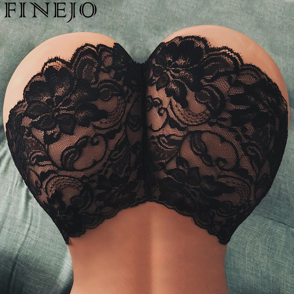 f92c405b5 ... Women Sexy Underwear Lace Briefs Panties Super Thin Hollow women s  breathable sexy lace panties Black White ...