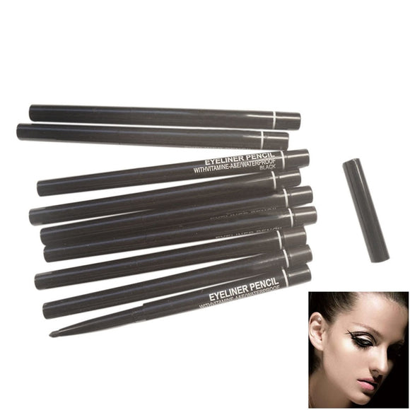 Black New Waterproof Rotary Gel Cream Eye Liner Black  Eyeliner Pen Makeup Cosmetic H7JP