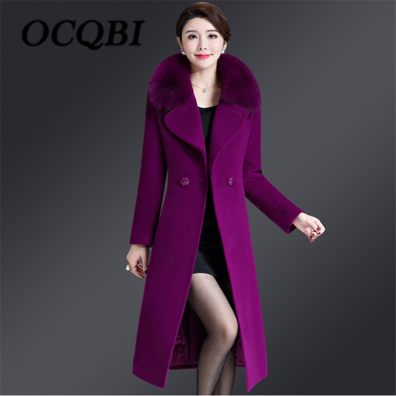 c0f9347e00e1f 2018 Winter Women Elegant Slim Big Size Coat High Quality Streetwear Korean  Style Coat 4xl