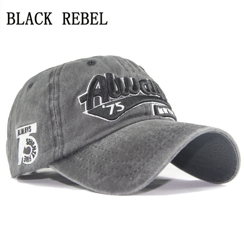 Black Rebel 2018 NEW ARRIVAL Spring season leisure style ALWAYS embroidery  cotton Snapback Unisex sport outdoor 2fbd49663d28