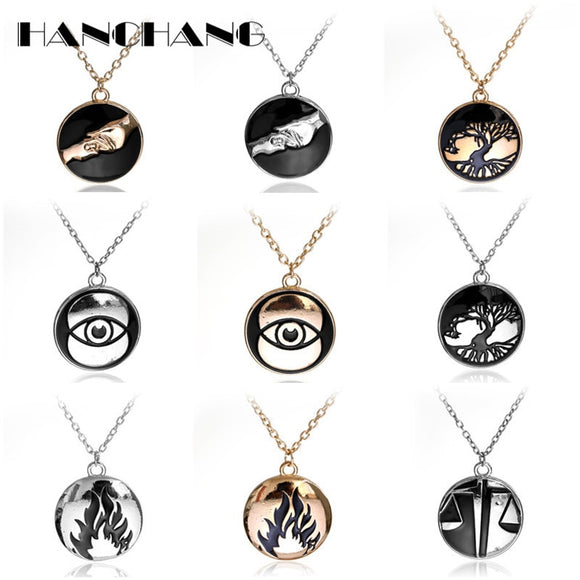 5 Style 10 Color Movie Jewelry Divergent Dauntless Amity Abnegation Candor Erudite Suspension Pendant Necklace Bijouterie