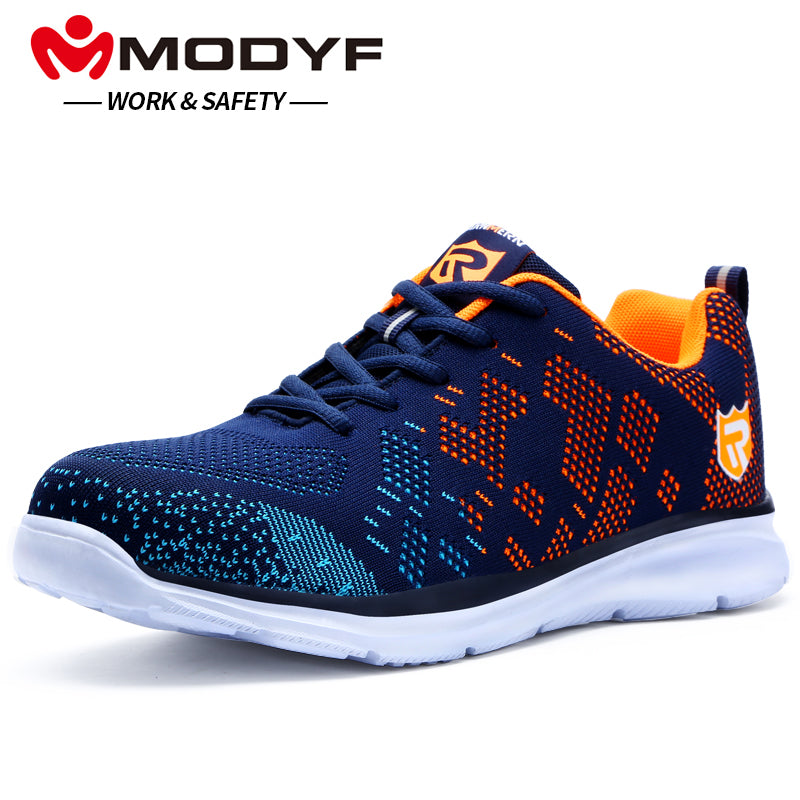 fc6cee19c99c MODYF Men Safety Shoes Steel Toe Work Shoes Ultra Lightweight Breathable  Sneaker Casual Footwear-Boots