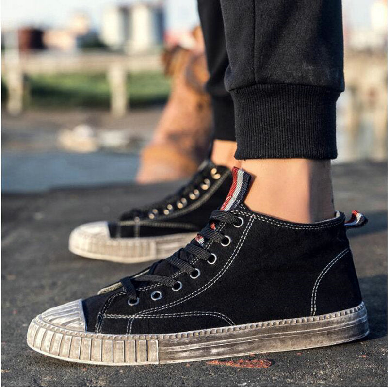 8b648a43b4913 2018 Summer Men dirty shoes sneakers Boys Black Gray flat Shoes Male Canvas  Casual Shoes Graffiti