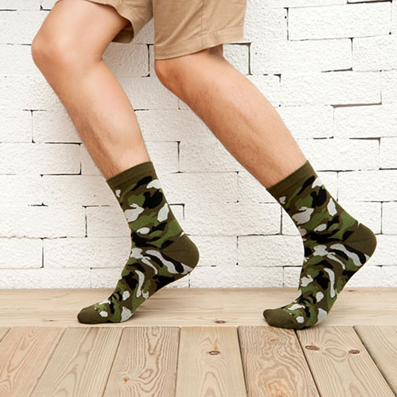 4552b65e8b211 1Pair New Autumn Winter Warm Socks For Men Socks Wholesale Korean Classic  Camouflage Socks Odd Future ...