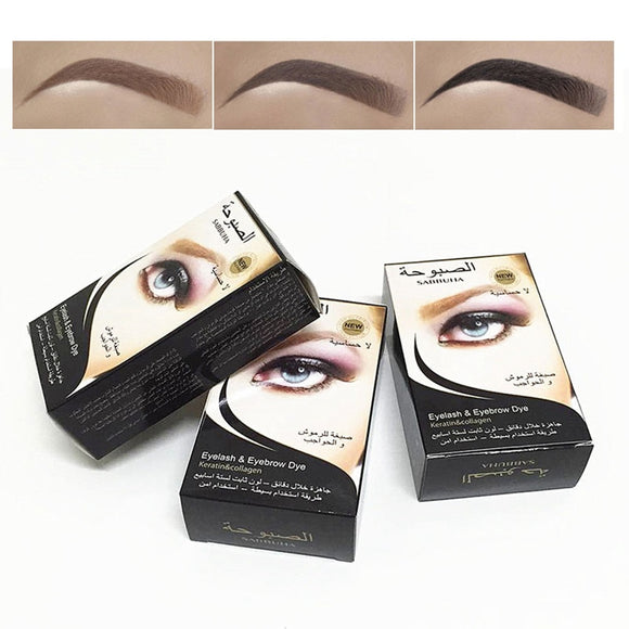 3 Colors Henna Eyebrow Gel Waterproof Tint Makeup Brush Set Brown Enhancer Eye Brow Dye Cream Make Up Paint Cosmetic