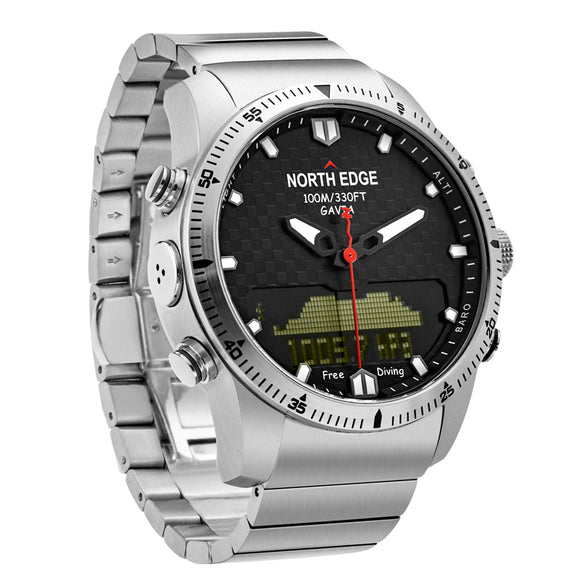 NORTH EDGE Digital Dive Watches Men Waterproof 100M Military relogio masculino Altimeter Compass LED Electronic Watch Men Sports-Watches-Zodeys-Zodeys