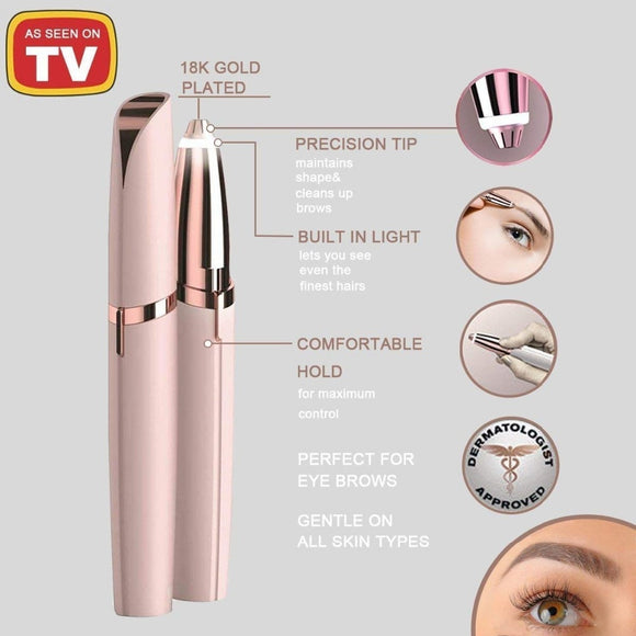 Eyebrow Trimmer Brow Hair Remover As Saw On TV Eyebrow Hair Remover Electric Eyebrow Trimmer Painless Hair Removal for Women Men