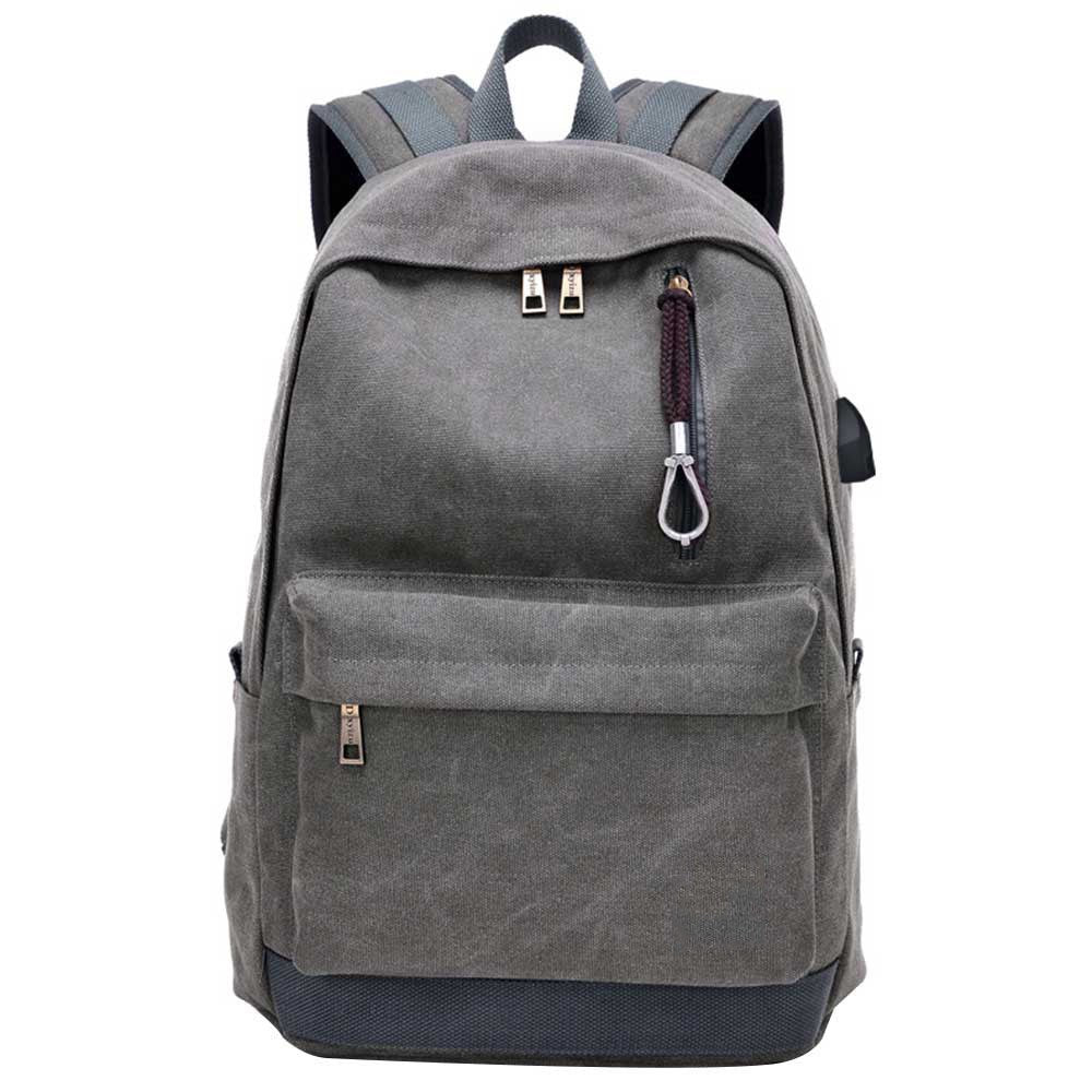 5f81249be8 Men s Aelicy Men s Canvas Backpack College Student School Backpack Bag for  Teenagers Vintage Mochila Casual Rucksack