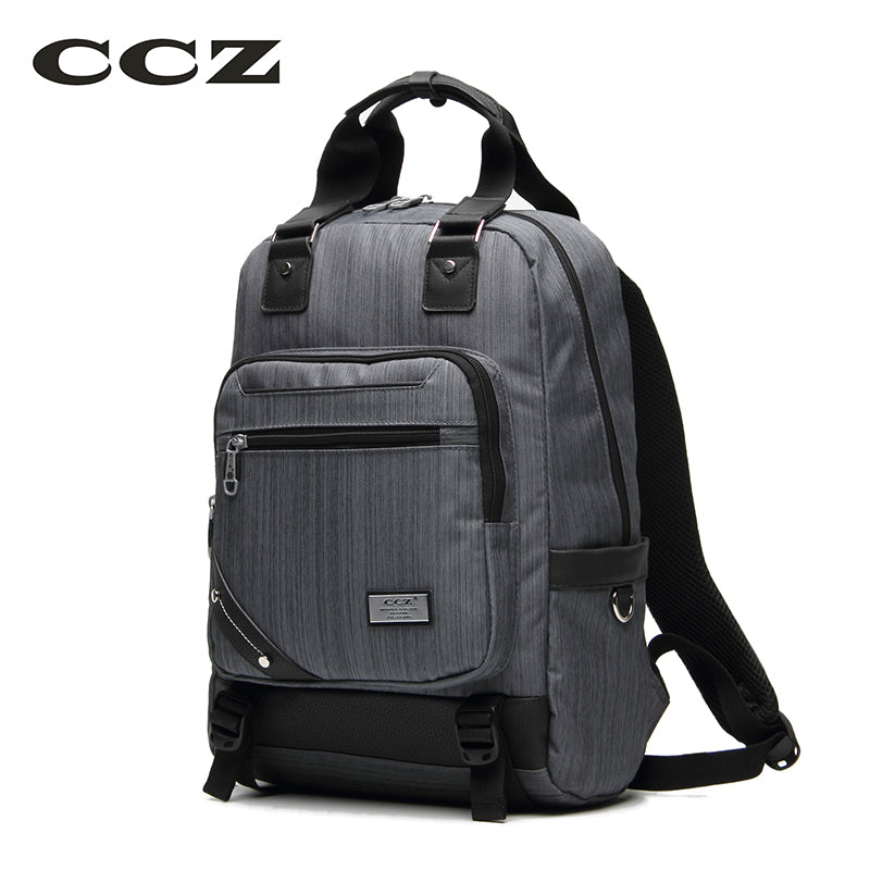 ef6ae5c272 CCZ 2017 New Fashion Backpack Male Waterproof Nylon backpack Men Bag  rucksack For Travelling 14 inch