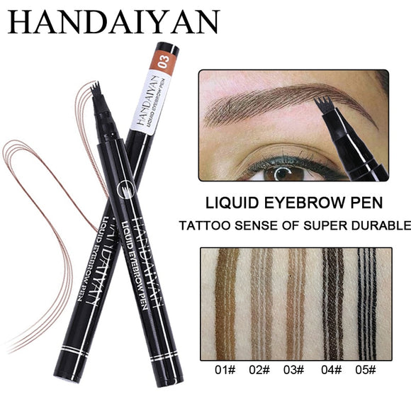 Eyebrow Pencil Microblading Eyebrow Tattoo Pen Waterproof Fork Tip Fine Sketch Microblading Pencil Liquid Eyebrow Pen Makeup-Makeup-Zodeys-01-Zodeys