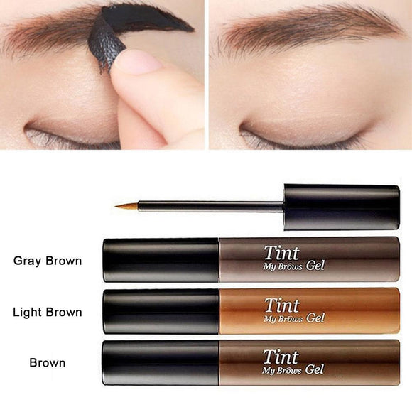 3 color Long lasting Peel Off Eyebrow Enhancer Waterproof Eyebrow Tint Brows Gel Professional Makeup Eyebrow Gel Tattoo Cosmetic-Makeup-Zodeys-Brown-Zodeys
