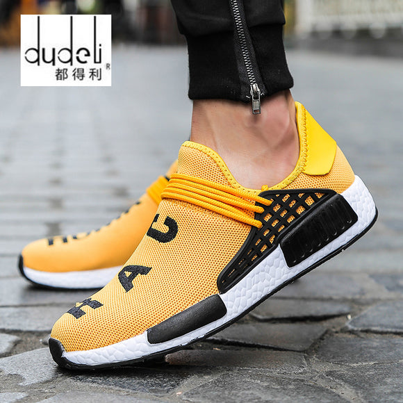 DUDELI Sneakers Men New 2018 human race Unisex Spring Casual Men Shoes Breathable Flats Shoes Men Trainers Shoes chaussure homme