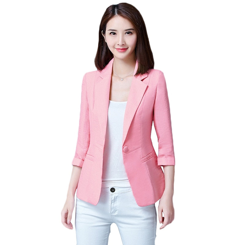 d26c7f483f25 Plus size 5XL Spring temperament small suits 2018 summer thin suit jacket  female jackets and blazers