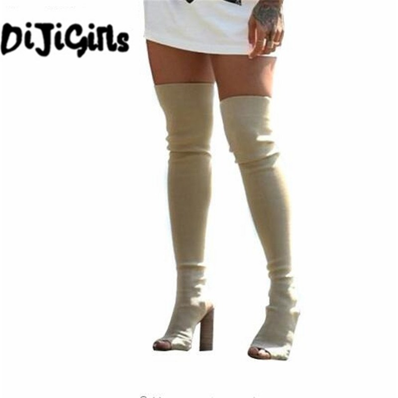 2a29d3ba77a DiJiGirls Women Shoes Over The Knee Boots Sexy Thigh High Boots 2018 Summer  Ladies Fashion High