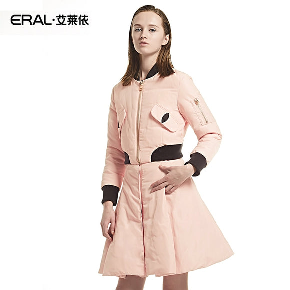 ERAL New Arrival Winter Long Sleeved Slim Thickening Down Jacket Fashion Down Coat With Detachable Skirt ERAL5003D