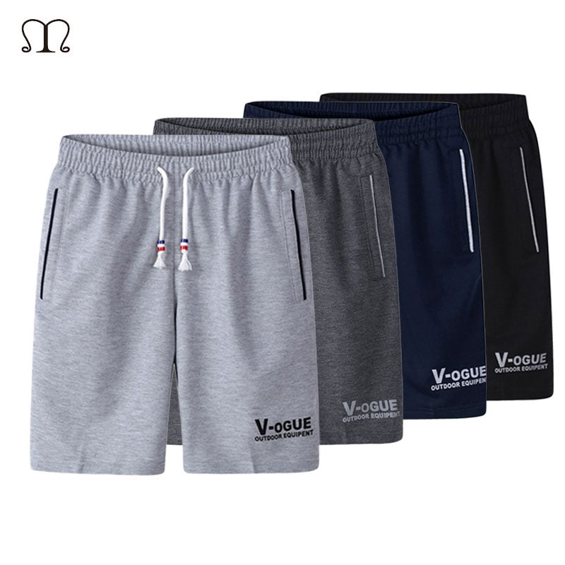 4b65491e1b0 Men s Summer Shorts Home Casual Elastic Waist Beach Shorts Mens Plus Size  Brand Fitness Loose Comfortable