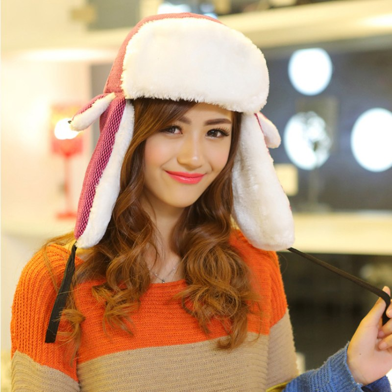 33c95f1c8ed ... HT541 Fashion Plaid Winter Hats for Women Hot Sale Winter Bomber Hats  Unisex Warm Russian Hats ...