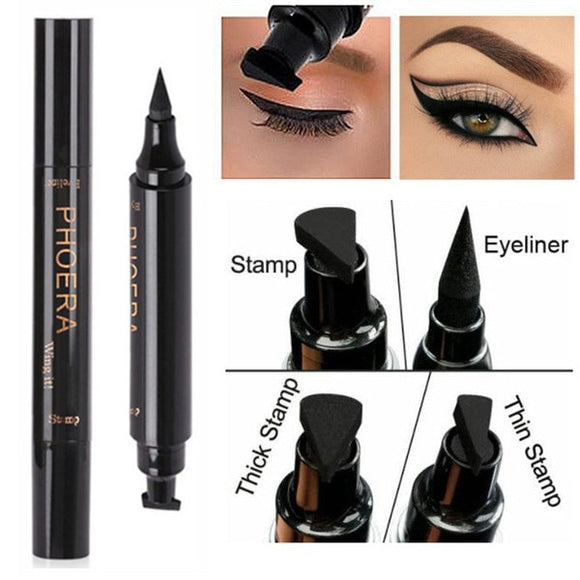Cat Eye Winged Eyeliner Sexy Eye Cosmetic Seal Wing Double Head Waterproof Eyeliner Pen Tool Makeup Cosmetic