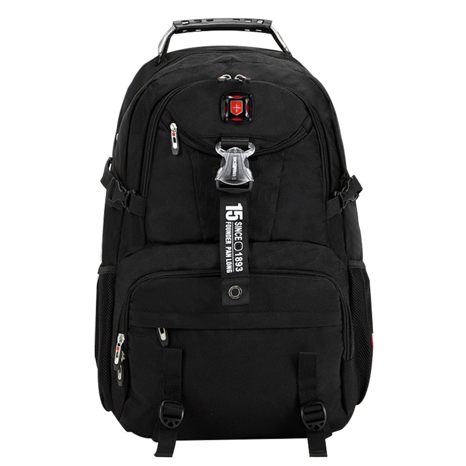 ed6863fb86e3 Brand Waterproof oxford Swiss Backpack Men 18 inch Laptop bag Large  capacity Business travel backpack Fashion