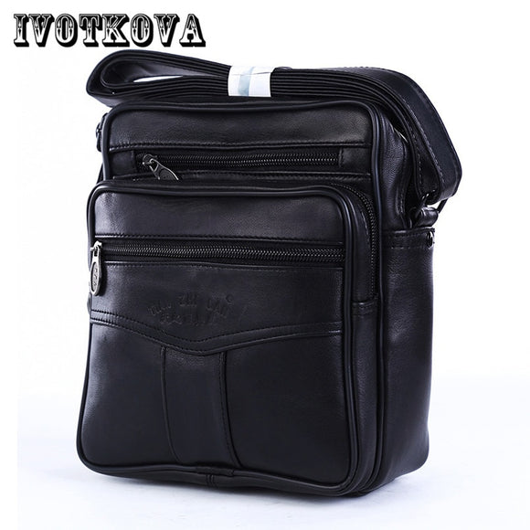 IVOTKOVA 2017 Men Bags Ipad Handbags Sheepskin Leather Male Messenger Purse Man Crossbody Shoulder Bag Men's Travel Bags