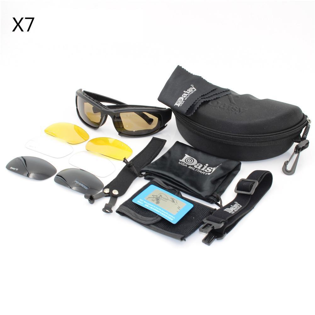 ad0ef52fcd Daisy X7 Tactical Glasses Polarized Motorcycle Sunglasses Airsoft Pain