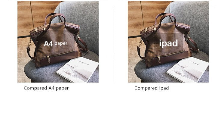 ... ICEV famous designer brand women leather handbags large capacity  shopping bag high quality big black casual ... 0e2d6a6d6fdcd