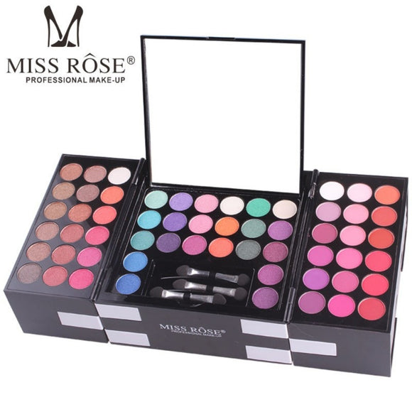 MISS ROSE Brand Women Professional 144 Colors Eyeshadow + Brushes Eyebrow Powder Makeup Set Cosmetic Make Up Kits-Makeup-Zodeys-picture show-Zodeys