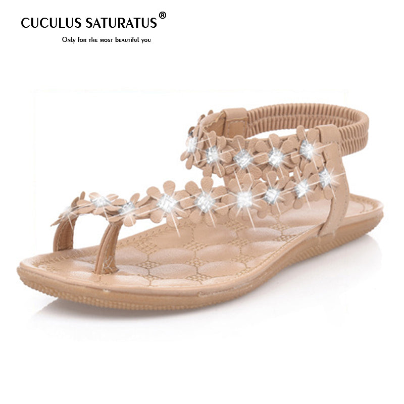 ccf99bd0644 Cuculus 2018 Women Sandals Summer Style Bling Bowtie Fashion Peep Toe Jelly  Shoes Sandal Flat Shoes