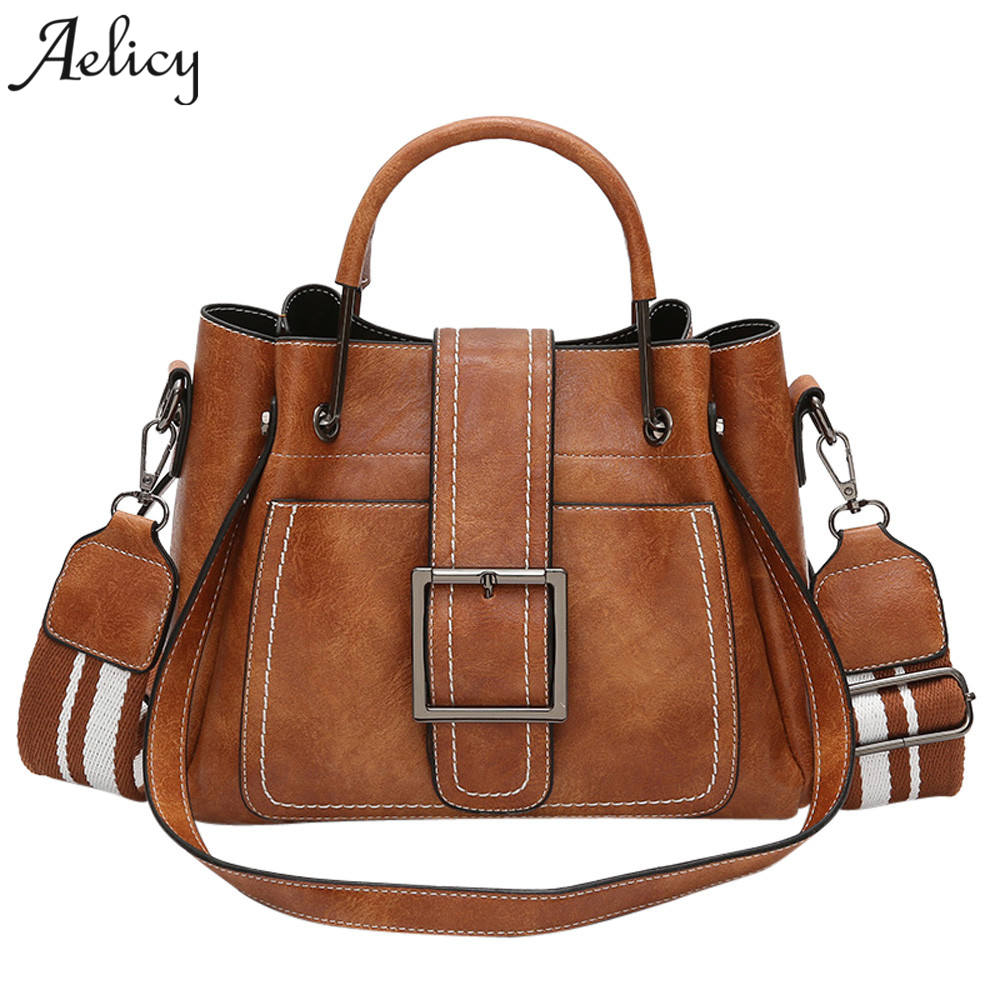 cfb32cf036 Aelicy High Quality Brand Fashion Female Shoulder Bag Leather Retro Handbag  Tote Bag for office Lady