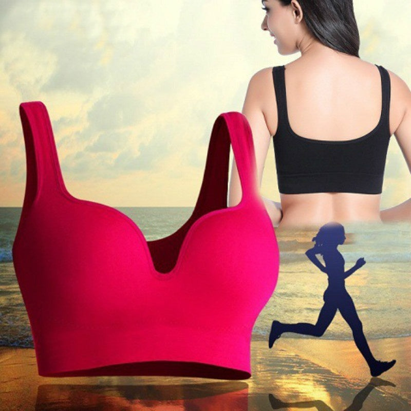 9df8f4e0fb Fitness Sports Bra Women Push Up Tank Athletic Vest Top Seamless 3D Bras No  Rims Shockproof. Hover to zoom ...