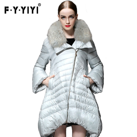 White duck down Ukraine 2016 Winter new cape-style loose down jacket female long paragraph large yards skirt type