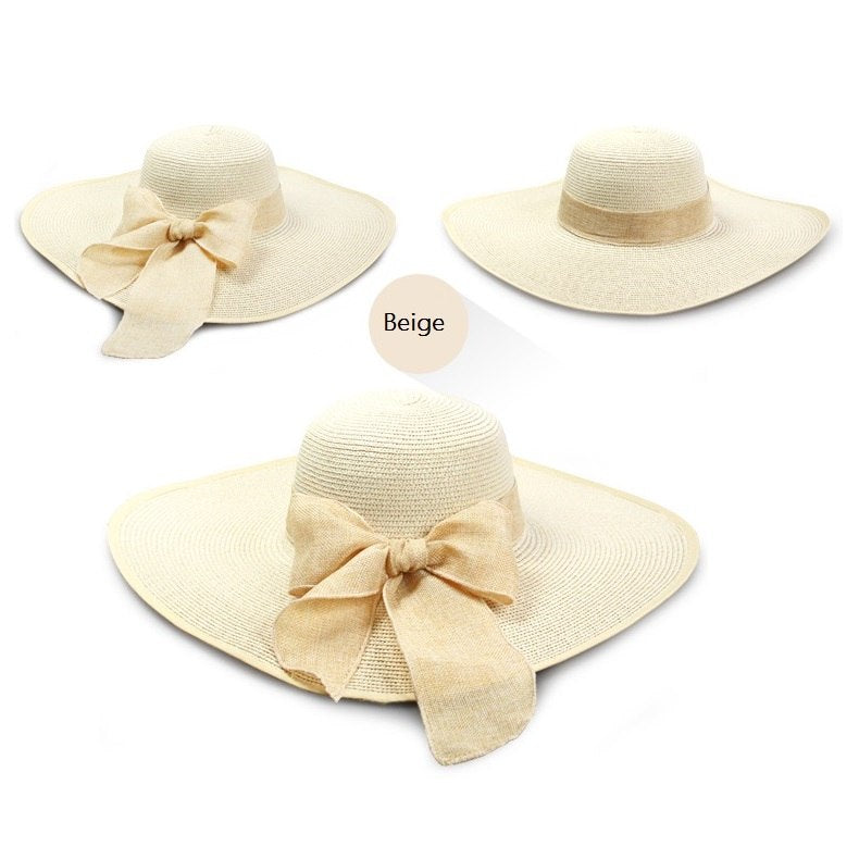 8457def33ba 2018 ladies summer hats with brim new brand straw hats for women beach sun  hats floppy