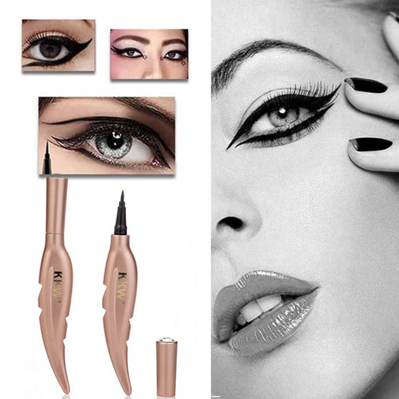 Black Liquid EyeLine Creative Feather Eyeliner Waterproof Long Lastingr Cosmetic Eyeliner festival makeup  9.5