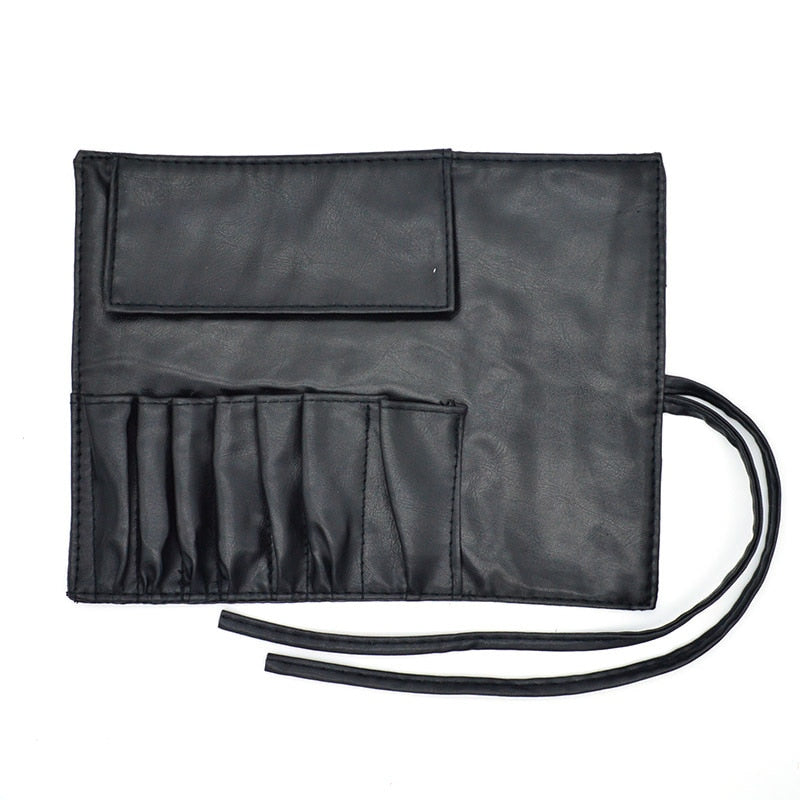 ceed5e5c42 7 Pockets professional Makeup Brushes Bags Holder Women Portable Leather  Cosmetic Bag for make up Organizer